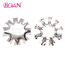 2PCs Nail Cutter Easy French Poly Tips Smile Line Edge Trimmer Manicure Art Tool