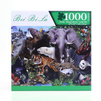 Jigsaw Puzzles 1000 Piece Animals World Kids Adult Games Education Toys Gift