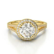 1.90 Ct Round Solitaire Diamond Engagement Ring 14K Solid Yellow Gold Size 6 7