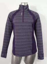 Reebok running women's 1/4 zip pullover with thumb holes & reflector M new