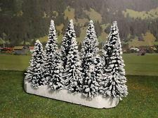 Schneetannen 15 Stck. H0 Konvolut Bäume zum Stecken für Modellbahn Anlage etc.