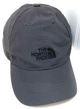 North Face Strap Back Unisex Nylon 5 Panel Hat Cap Adjustable Dark Gray Sz L/XL