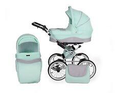 3in1 Retro Kinderwagen Sportwagen Buggy Babyschale Kombi Kombikinderwagen Neu