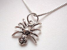 Very Small Spider Pendant 925 Sterling Silver Corona Sun Jewelry