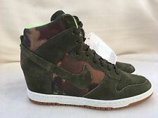 Nike Dunk Sky Hi (High) Khaki Green Trainers Size 4.5 UK Women's. New With Tags
