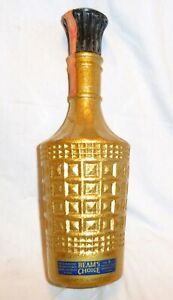 Beam's Choice 1976 Gold Collector's Bottle Jim Beam Decanter EMPTY
