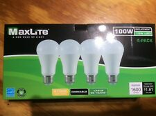 12 Pack 15w Maxlite LED 100 Watt Equivalent A type Light Bulb - Dimmable 2700k!!