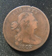 1802 Draped Bust Large One Cent Penny United States Antique One Cent Coin!