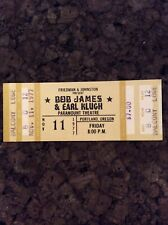 Bob James & Earl Klugh Unused 1977 Concert Ticket Portland Oregon Paramount