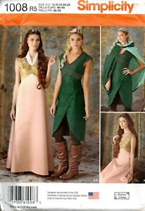 Simplicity Sewing Pattern 1008 Misses Game Of Thrones Costumes Size 14-22