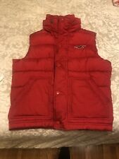 HOLLISTER Men's Classic Puffer Red Vest Size Small