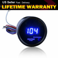 "Car Motor dark blue 2"" 52mm  Digital LED Fahrenheit Water Temp Gauge"