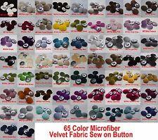 "#6 Piece 1""1/8 inch/28mm microfiber velvet Cloth Wrap Jacket Sew On Metal Button"