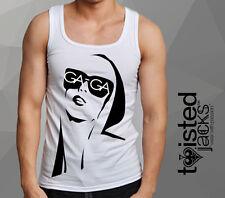 Adult Printed Vest Lady GAGA DesignMen Unisex Tee Vest Graphic Print GAGA