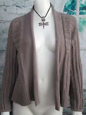 Fossil Women's Size M Gray Long Sleeve Open Sweater Cardigan