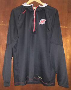 Reebok NHL Center Ice Collection NJ Devils Black 1/4 Zip Jacket Pullover Men XL