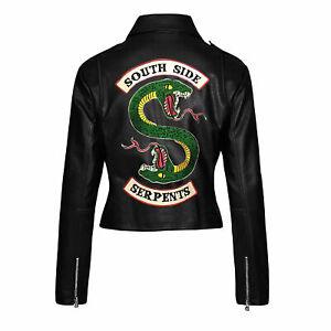 Riverdale Southside Serpents jughead jones women Leather Biker Jacket