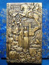 Médaille Plaque Bronze Alsace Klebber Rapp Gutenberg - Roger Delamarre