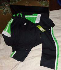 New Balance Black Green White Track Suit Athletic Pants Jacket Size 3T 3