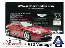 1:18 Aston Martin V12 Vantage año 2010 color Rojo Auto Art Ref.70208