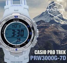 Casio Digital Sport Mens Watch Pro Trek White Prw-3000g-7d