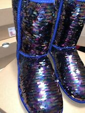Womens Uggs Blue Two Color Boots 9