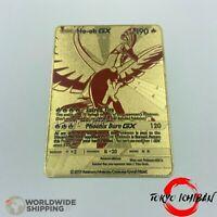 Carte Pokemon Ho-Oh GX EX Gold Fan Made Custom Metal Card RARE