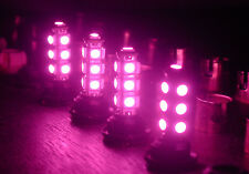 4 x T10 T15 921 168 194 13SMD 5050SMD LED Wedge Bulbs Pink Purple Made in Taiwan