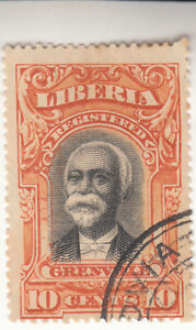 LIBERIA 1903. Early Grenville Pictorial issue 10c. Orange. Used