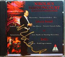 Harnoncourt SIGNED Johann Strauss a Berlino BPO CD imperatore valzer voti PRIMAVERA