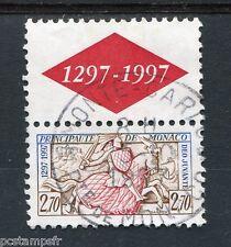 MONACO 1996, timbre 2085, SCEAU DU PRINCE, CHEVAL, oblitéré