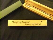 Personalizzati Penna a Sfera in Legno & scatola in legno-Figlia Regalo-progettato a mano