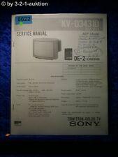 Sony Service Manual KV D3431D Color TV (#5622)