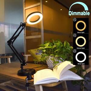 Flexible Arm Desk Lamp Dimmable LED Work Desk Lamps-6W Clamp-on Desk LightEy...