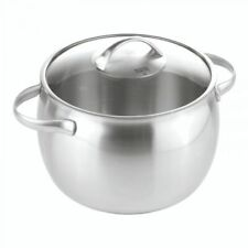 Kuhn Rikon Stainless Steel Daily Casserole Stock Pot with glass lid  7.6L 24CM