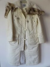 Oasis Ladies Warm Winter Parka/Coat in Eggshell White Colour, Size UK 8, GUC