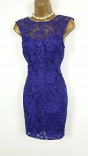 Lipsy lace purple mini dress Uk 10