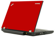 RED Vinyl Lid Skin Cover Decal fits IBM Lenovo ThinkPad T520 W530 Laptop