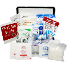 Bulk First Aid Kit, 74 Piece, OSHA & ANSI A, 25 Person Powder: Coated Steel Case