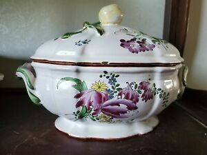 Antique French Faience  Soup Tureen
