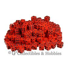 NEW 200 16mm 5/8 inch Red w Black Pips D6 Six Sided Game Dice Bulk Koplow