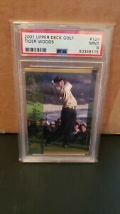 2001 UPPER DECK TIGER WOODS DEFINING MOMENTS ROOKIE RC PSA 9 MINT NIKE