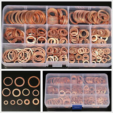 280pcs Assorted Solid Copper Crush Washers Seal Flat Ring Hydraulic Fittings Set