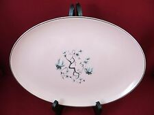 Platter  Pink Glass Oval Serving Plate   Vintage 11 1/4 LOVELY RARE  in EUC