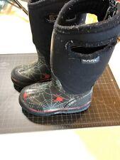 Boys Bogs Rain Snow Boots Spider Web
