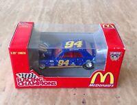 Racing Champions #94 Bill Elliott McDonalds 50th Anniversary NASCAR Blue Hot Rod