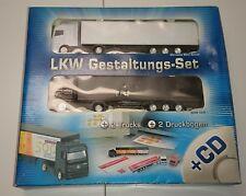 LKW Gestaltungs-Set,2 Trucks,1:87,H0,2 Druckbögen,CD-ROM,Mercedes,MAN,Photolux