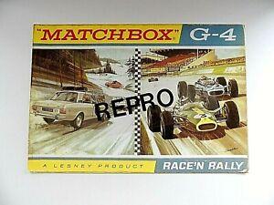 MATCHBOX LESNEY  MOKO - POSTER 1968 RACE 'N RALLY GIFT SET BPW - G4