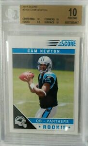 2011 Score Cam Newton Rookie rc BGS 10 Pristine Rare super hot rookie Patriots