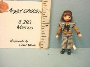 """Miniature Ethel Hicks Doll's Doll """"Marcus"""" 6-293 Handcrafted"""